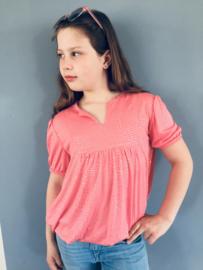 Meisjes shirt/blouse met zilver detail