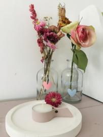 Waxinelichthouder I oud roze