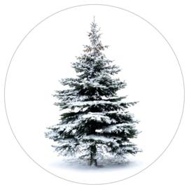 muurcirkel kerstboom 20 cm