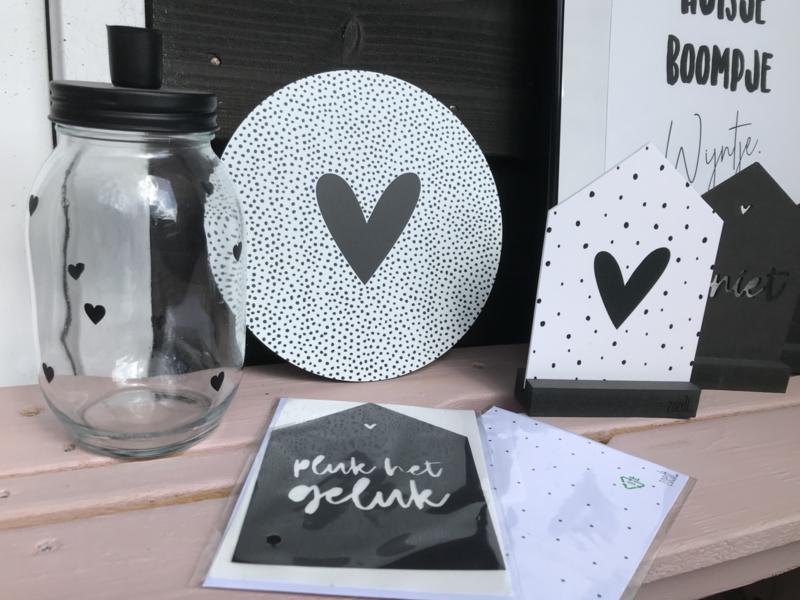 (muur) cirkel dots met hart