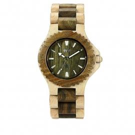 WeWood horloge `Date beige/army`