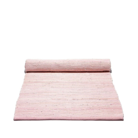 Rug Solid Katoenen Vloerkleed Uni / lichtroze