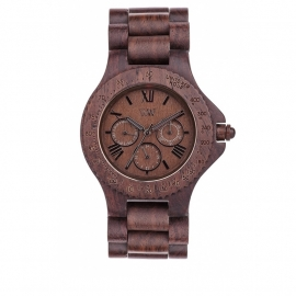 WeWood horloge 'Sitah chocolate'