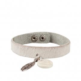Tante Taat safari-armband Witte Leeuw met bedel
