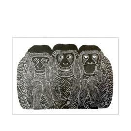 Monika Petersen 3 Monkeys Black