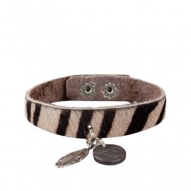 Tante Taat safari-armband Zebra met bedel