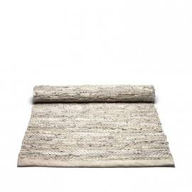 Rug Solid Lederen Vloerkleed Beige / div. afmetingen