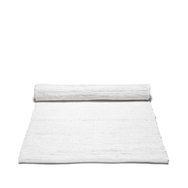 Rug Solid Katoenen Vloerkleed Uni Wit 60x90 cm