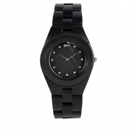 WeWood horloge 'Odyssey crystal black'