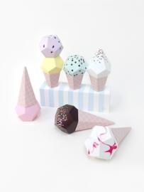 Moon Picnic Paper Ice Creams