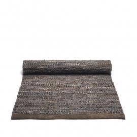 Rug Solid Lederen Vloerkleed Brown - Choco / div. afmetingen