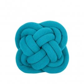 Umemi Turk's Head Notknot kussen Turquoise