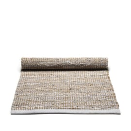 Rug Solid Jute Vloerkleed Smooth Grey / div. afmetingen