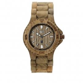 WeWood horloge `Date teak`