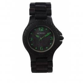 WeWood horloge 'Kale black green'