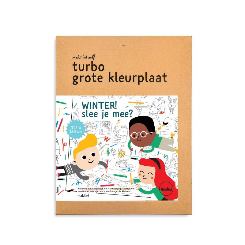 Makii Turbo Grote Kleurplaat 'Winter'