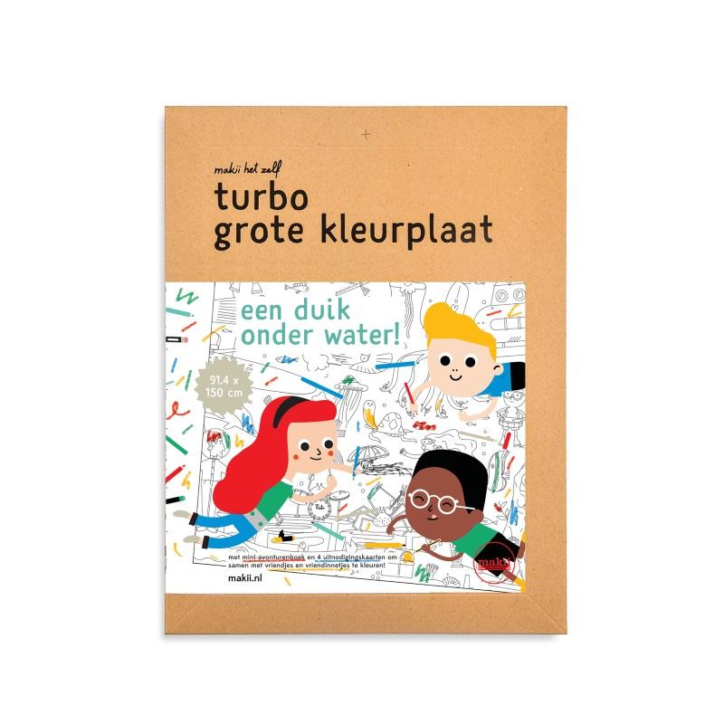 Makii Turbo Grote Kleurplaat 'Water'