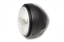 Mooi kleine koplamp matzwart , 5 3/4 inch , zijmontage.