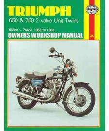 Triumph Bonneville Haynes boek