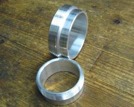 Lasflens voor Monza dop , 2 inch of 1 1/2 inch , aluminium.