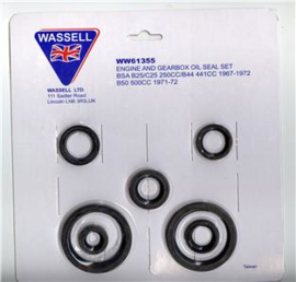 Olie keerring set BSA B25,B44,B50 etc