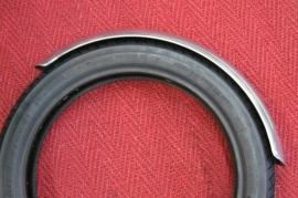 Voor spatbord   17 en 18 inch 115 mm , aluminium of staal