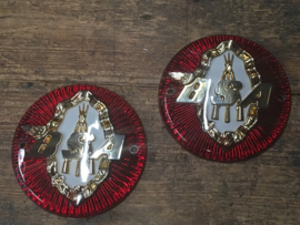 BSA  tankbadges , pair , 65-8220