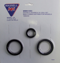 Olie keering set BSA C15 en B40 , 1959/64