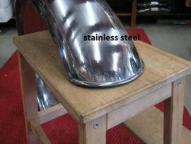 Caferace/scrambler achterspatbord alu./ steel /stainless steel