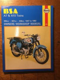 Haynes workshop manual BSA A7/A10 , isbn 0 85696 121 3
