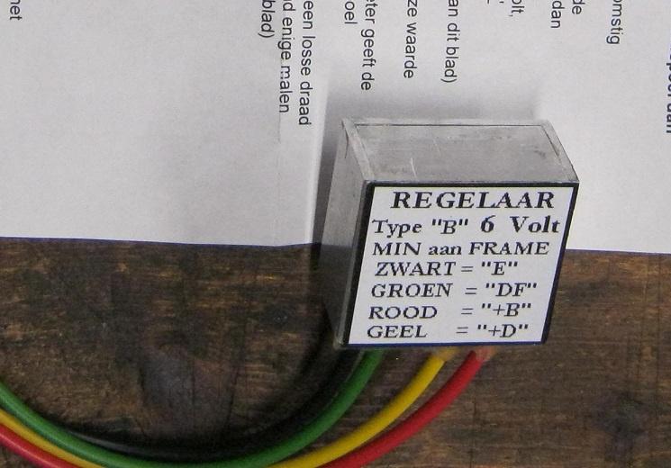Spannings regelaar Bosch gelijk stroom  6 Volt , max 75 watt