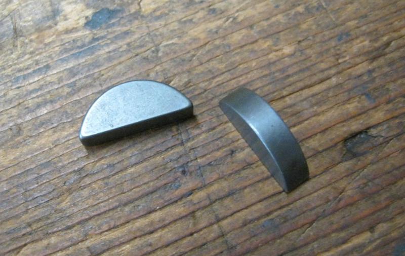 Woodruff key / Spie voor de koppelings kern