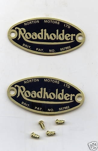 Roadholder badge met nageltjes (setje) , Norton