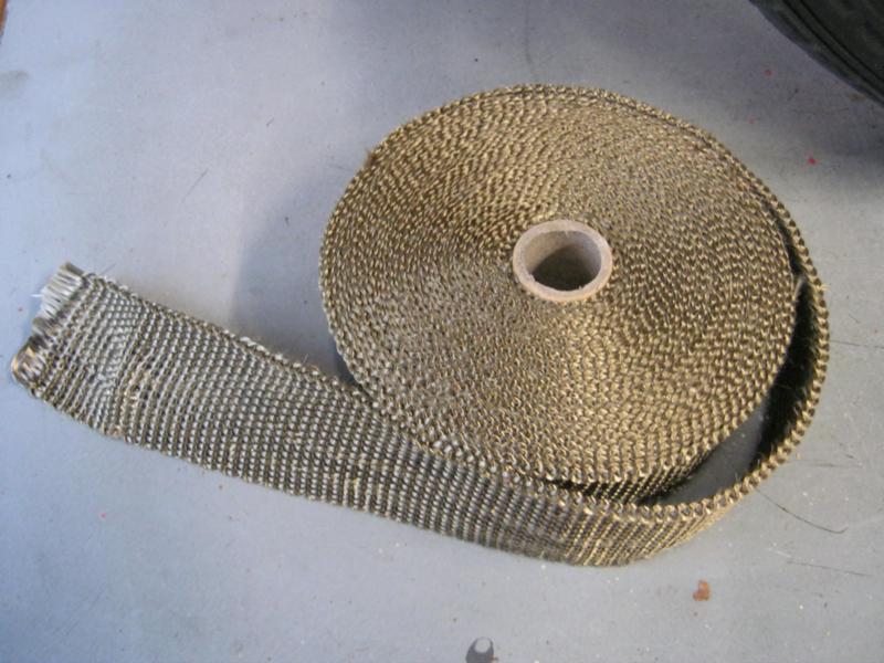 """Uitlaat tape """"Titanium"""" 10 meter , dikke kwaliteit"""