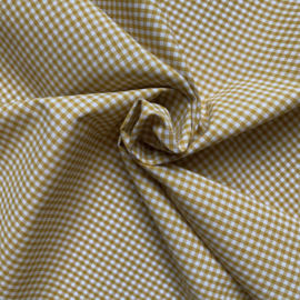Cotton gingham  2,7 mm  Ochre