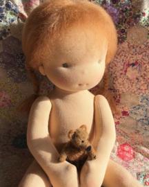 Lindy - a 16''/42 cm tall Handmade Waldorf Doll