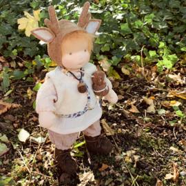 Reindeer Doll - Caramel hair - a 14''/35 cm tall