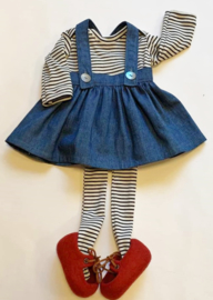 """Clothing set -  chambray jeans skirt - for 16""""/42 cm tall doll"""