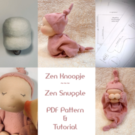 PDF digital pattern and tutorial Zen Knoopje  / Zen Snuggle (English)
