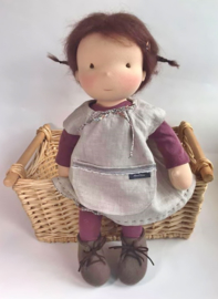 Nadine - a 16''/42 cm tall Handmade Waldorf Doll