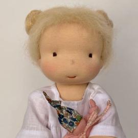 16''/42 cm tall Handmade Waldorf doll for Nina