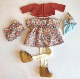 """Clothingset Nell - for 16""""/42 cm tall doll"""