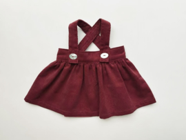 "Doll suspender skirt, for 42cm/16"" dolls - Wine red/bordeaux"