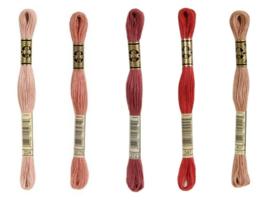DMC mouliné embroidery silk - mouth colors