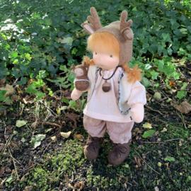 Reindeer Doll - Copper hair - a 14''/35 cm tall
