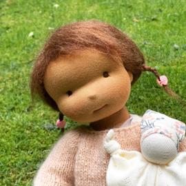 Isla - a 16''/42 cm tall Handmade Waldorf Doll