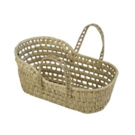Palm leaf doll bassinet / Mozes basket  - mini - 34 cm. / 13,4""