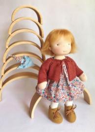 Nell - a 16''/42 cm tall Handmade Waldorf Doll