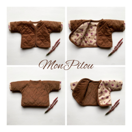 PDF Doll Pattern  Quilted Jacket in 3 sizes