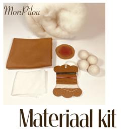 Materiaal kit - voor Aankleedpopje van 36 cm lang